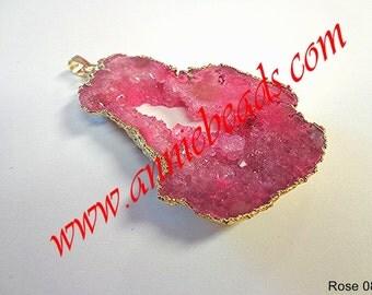 Beautiful Pink Color Druzy Pendant!!!!