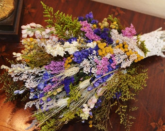 Wedding Bouquet, Dried Wedding Bouquet, Dried Flower Bouquet, Wildflower Bouquet, Wildflower Bouquet - Made to Order
