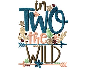 In TWO The WILD Birthday shirt, personalize with name
