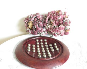 solid wood Solitaire set with metal ball bearings/solitaire game/treen/vintage solitaire/Margalide