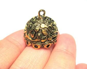 Antique Gold Large Tassel Caps Cone Bead Caps 19mm