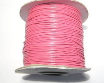 30ft Hot Pink Korea Wax Polyester Cord 1mm(No.113)