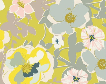 Fabric - Art Gallery - Heartland Blomma Garden Golden - cotton print.