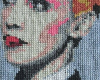 Annie Lennox embroidered portrait