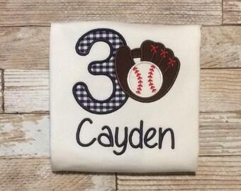 Baseball Birthday Shirt- Baseball Shirt- Boy Birthday- Baseball Birthday