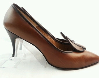 "Vintage  ""Pallazio"" Brown Leather Shoes - Size 8"