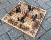 CUSTOM ORDER: for Cotswold Archaeology - Custom Tablut Hnefatafl board w/ Custom King pawn - *Purchase only by representative of Cotswold