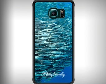 Galaxy S6 phone case with Full color custom graphics - Bait ball