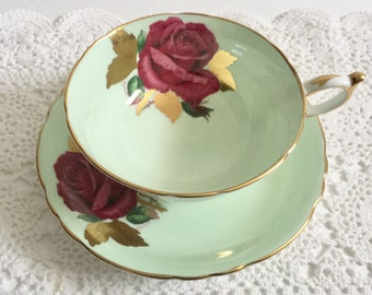 Signed Paragon China Tea Cup and Saucer Teacup Set