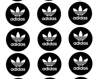 ADIDAS inspired cupcake toppers/stickers