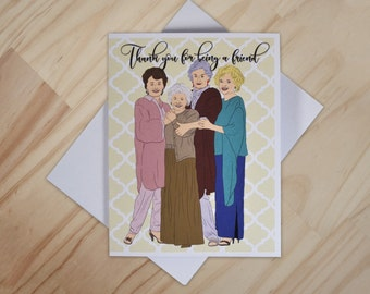 Golden Girls Holiday Greeting Card - Blanche, Sophia, Dorothy, and Rose Christmas Card