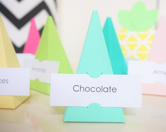 Luau Party Decorations - Personalized Food Labels - Name Cards - Place Cards
