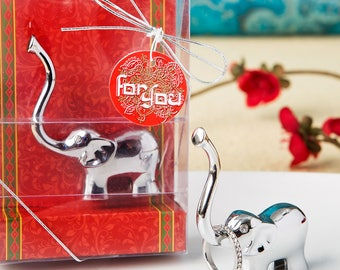 Silver Good luck Elephant Ring and Jewelry Holder - Wedding Bridal Shower Party Favor 12-96 Qty  4240