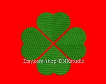 Four Leaf Clover Embroidery Design - 5 Sizes - INSTANT DOWNLOAD