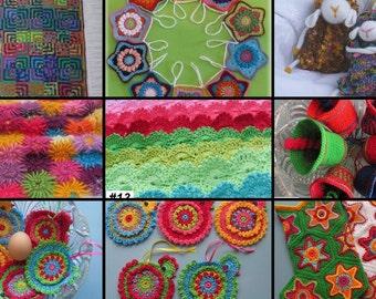 Crochet Patterns - Pick Any 10 Crochet Patterns Bundle from ASmartPattern, baby blanket,monkey,star balls,animals, baby mobile,stars garland