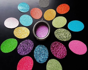 Window Insert for Oval Floating Lockets-Choose from 20 Colors-Gift Idea