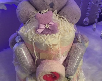 Diaper Cakes for baby showers!