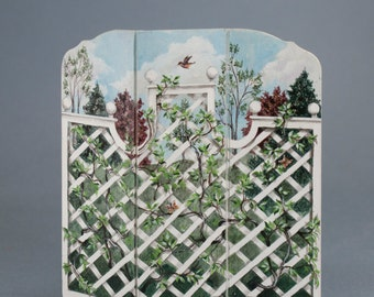 Dollhouse handpainted screen. 1:12 scale.