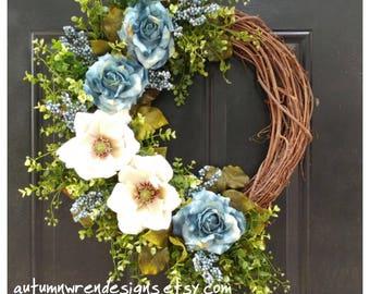 FRONT Door Wreath, Magnolia Wreath for Door, Year Round Wreath, Wreath for Door, Door Wreath