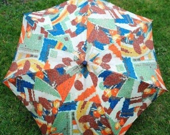 Stunning 1930s Floral Parasol in Glorious Art Deco Colours!