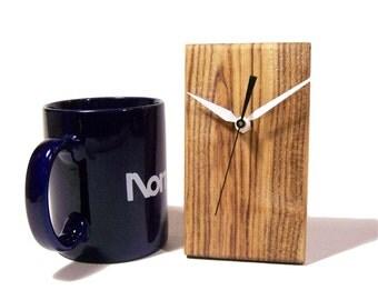 Wood Clock, Desk Clock, Small Desk Clock, Wood Desk Clock, Small Wood Desk Clock, Executive Gift, Reclaimed Wood, Free Shipping
