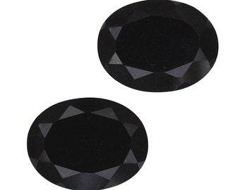 Black Tourmaline Oval Cut Set of 2 Loose Gemstones 1A Quality 9x7mm TGW 3.00 cts.