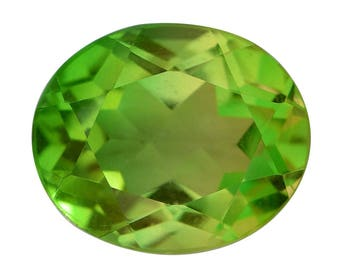 Lime Quartz Triplet Oval Cut Loose Gemstone 1A Quality 12x10mm TGW 5.40 cts.