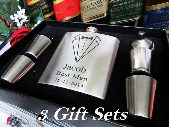 Personalised Wedding Gifts Quick Delivery : ... for Men and Women // Groomsman Invitation Gift Ideas // FAST SHIPPING