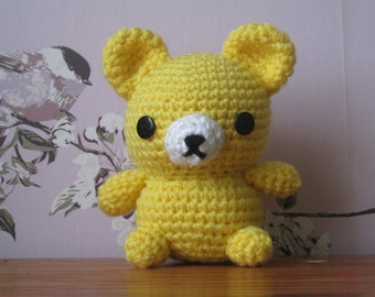 Crochet, Amigurumi, Bear, Teddy, Yellow, Cute, Toy