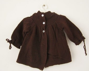 Vintage knitted Cardigan in Brown 74