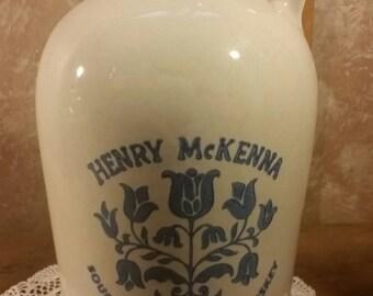 Henry Mckenna Bourbon Pottery Jug