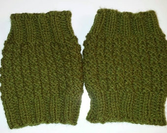Olive Green Boot Cuffs / One Size fits most / Gifts