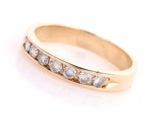 Estate Diamond 14k Yellow Gold Wedding Band