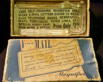 SALE@! V-Mail Magnifier with Original Box and Insert