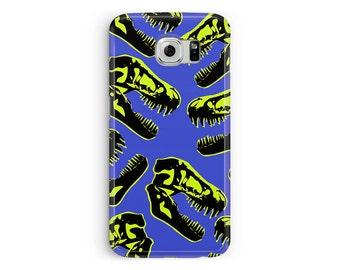 Samsung Galaxy S7 Case, S7 Cover, Dinosaur Phone Case, Skull pattern Samsung Case, Skater s7 Case, Protective Case, Jurassic Park s7 Case