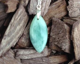 Aquamarine Pendant Necklace/Aqua/Pendant necklace/Marquise pendant