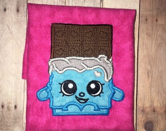 Girls Shopkins Cheeky Chocolate Candy Bar Shopkin Bubbles Bubble Gum Boutique Birthday Embroidered Applique Shirt Toddler Baby Girl Birthday
