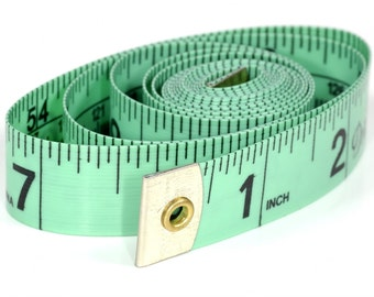 Classic Tape Measure 60inch by Dritz, Handy Sewing Tool, Green or Pink 9220