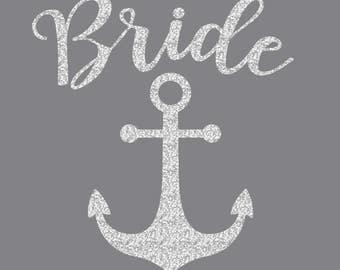 Bride Anchor Iron On Decal