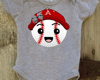 Razorback  Baseball Bodysuit for Baby Girl