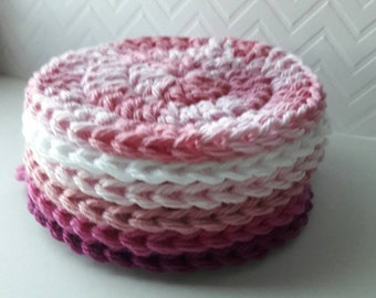 6 Pink ombre Face scrubbies