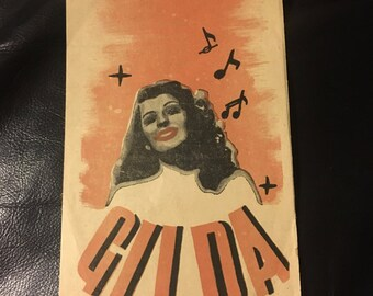 Original 1946 Gilda Polish Herald Movie Poster, Program, Book, Rita Hayworth, Glenn Ford