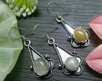 Choose any One earring Pair 925 sterling Silver Plated Stylish Beautiful earring, dangle earring, gemstone Earring