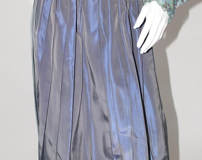 Vintage Estate 1950s Slate Blue Circle Full Swing Skirt