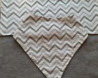 Matching bib and burp cloth