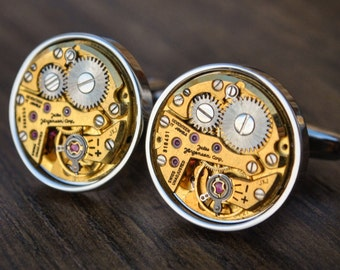 Jules Jurgensen Watch Movement Cufflinks