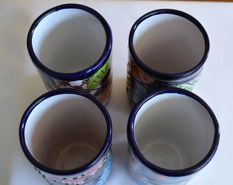 4 glasses of talavera