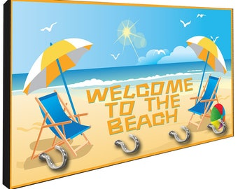 Welcome To The Beach Key Hanger Rack from Redeye Laserworks