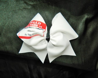 Princess Bride Inspired Hello My Name is Dread Pirate Roberts/Wesley/As You Wish Cheer Bow Hair Bow