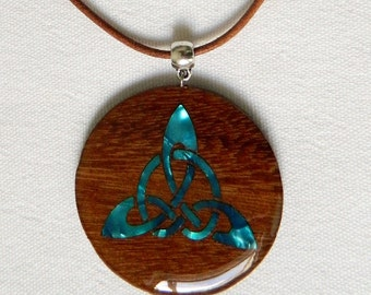Celtic wooden necklace
